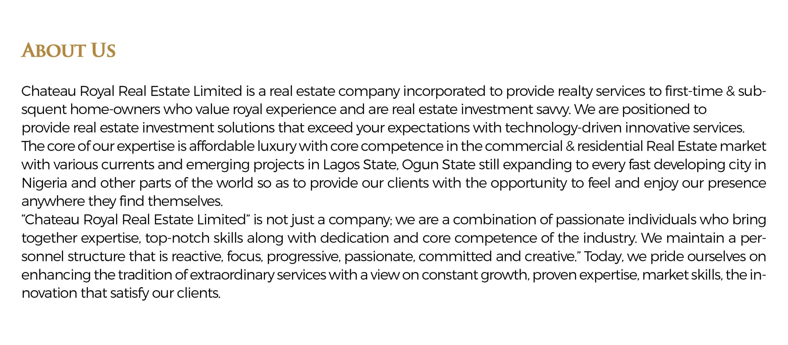 Profile 'about us